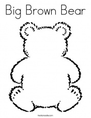 Free Brown Bear Coloring Pages - Google Twit
