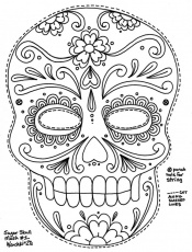skull coloring pages day of the dead