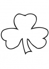 Coloring page Irish clover - Shamrock - img 21703.