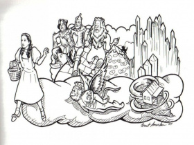 Wizard Of Oz Characters Coloring Pages Free Printable Wizard Of