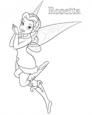 Print Rosetta Tinkerbell Coloring Page or Download Rosetta