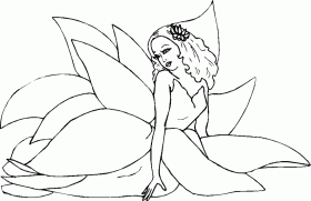 fairy Colouring Pages (page 3)