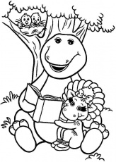barney the dinosaur coloring pages