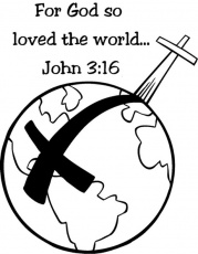 John 3:16 For God so loved the world | Catholic Coloring Pages | Pint…