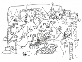Christmas Coloring Page - Free Coloring Pages For KidsFree
