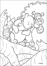 Winnie The Pooh coloring pages - Winnie's friends: Piglet and Tigger