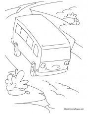Bus Safety Signs Coloring Pages