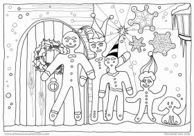 Gingerbread Man Coloring Page - Free Coloring Pages For KidsFree