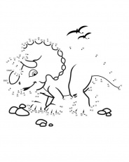 connect the dots dino printable coloring pages