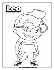 little einsteins coloring page for kids printable coloring sheet