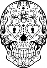 Extra Large Sugar Skull Coloring Page