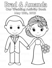 Printable Personalized Wedding coloring activity book Favor Kids 8.5 …