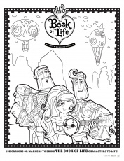Free Book of Life Coloring Pages and Activity Sheets #BOLinsiders
