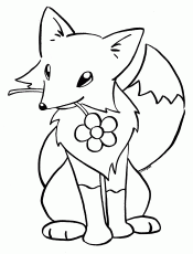 Christmas Fox Coloring Pages - Coloring Pages For All Ages