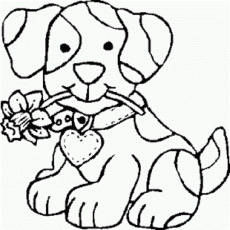 Cute Dog Coloring Pages for Girls, Gallery of Free Printable Color ...