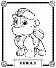 Coloring Page with Animals