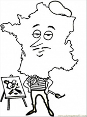 coloring pages on france