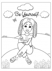Coloring Pages for African American Girls - Charmz Girl: