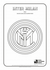 Inter Milan logo coloring page | Coloring pages, Cool coloring pages, Logos