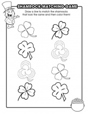 Shamrock Matching Game - Free Printable Coloring Pages
