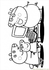 Coloring Pages Peppa 07 (Mammals > Pig) - free printable coloring