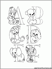 precious moments alphabet a-z coloring pages