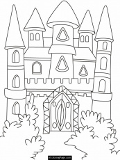 Disney Big Castle Coloring Pages - Disney Coloring Pages : iKids