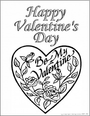 valentine coloring pages online