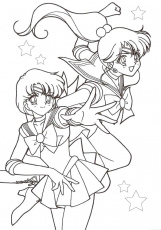 Two Faces Of Sailor Moon Coloring Pages - Sailor Moon Coloring
