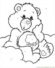 Coloring Pages Bearcareby Numbers (Cartoons > Care Bears) - free