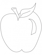 preschool apple coloring pages