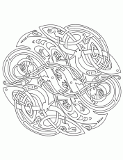 adult coloring pages free celtic