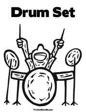 real drums colouring pages