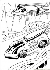 hotwheels and luxury car Colouring Pages