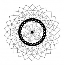 Mandala Coloring Page Tribal Tattoo Design Pattern