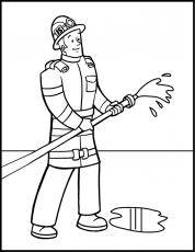 Firefighter Coloring Pages For Kids Coloring Pages Pictures