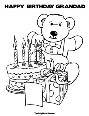 grandads birthday Colouring Pages