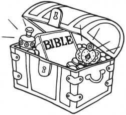 treasures in heaven coloring page