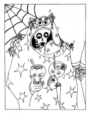 Scary Halloween Skull Juice Party Coloring Pages of Halloween