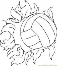 Volleyball Coloring Pages | Coloring Pages