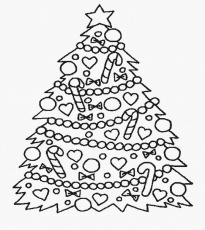 Fantastical Christmas Tree Picture To Color - Best Card Design Example