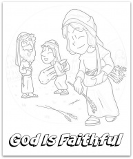"Ruth, Naomi, and Boaz"" Coloring Page for Kids"