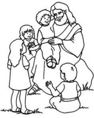 Jesus Loves The Little Children Coloring Page - Coloring Pages for ...