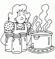 o pin cooking coloring pages printable