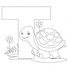 Coloring Pages Alphabet Letter T Coloring Home