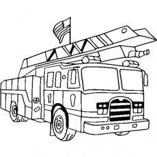 Firetrucks coloring pages