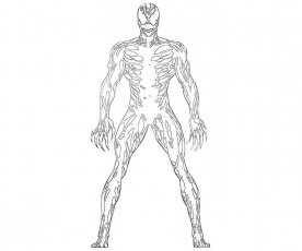 carnage spider man coloring pages - photo#44