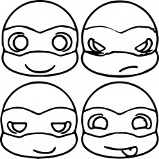easy teenage mutant Ninja Turtle coloring pages