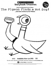 Pigeon Finds a Hot Dog! printable coloring sheet | birthday party ...
