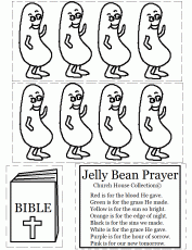 Jelly Bean Prayer With Bibles Coloring Page